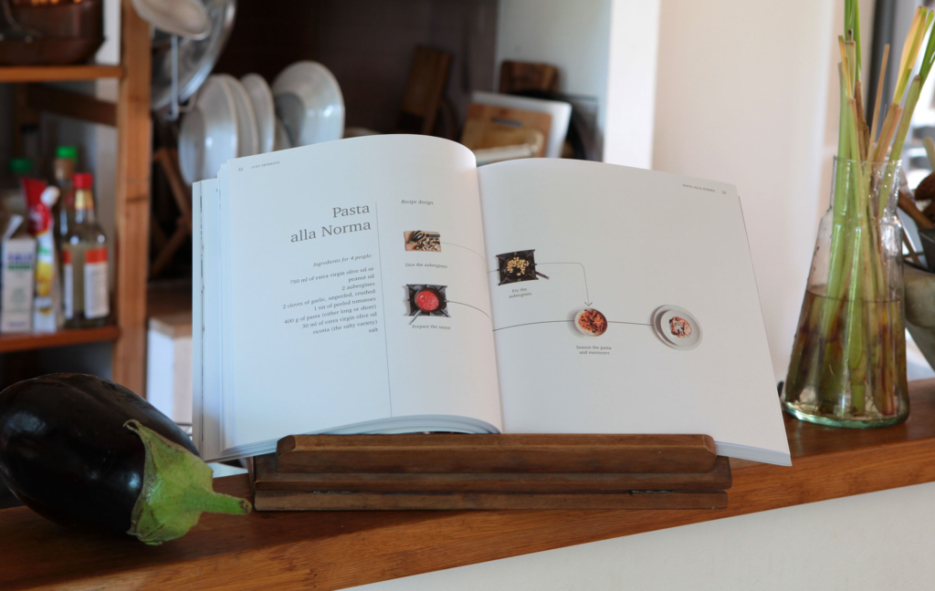 libro the art of cooking separately pasta alla norma